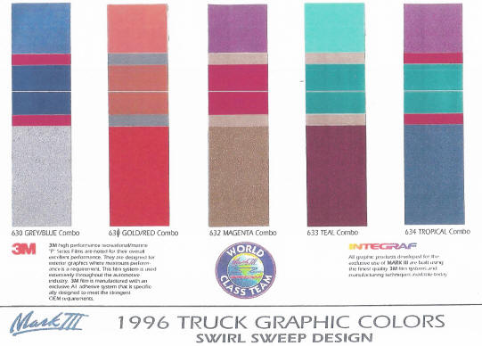 ford truck colors 1996