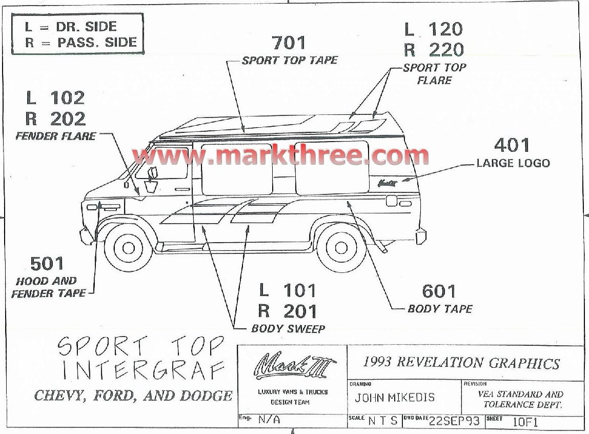 Custom Vans Graphics Parts Search Site Map